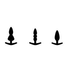 Adult anal sex toys set various anus butt plugs vector