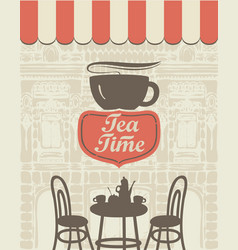 Banner for a sidewalk cafe vector