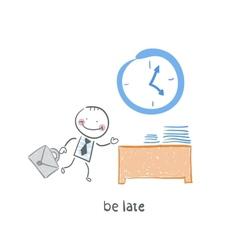 Be late cartoon vector