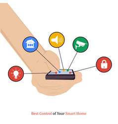 Best control of your smart home vector