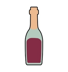 Bottle drink alcohol beverage icon vector