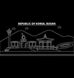 busan silhouette skyline south korea - busan vector image