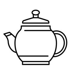 ceramic teapot teapot icon outline style vector image