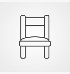 chair icon sign symbol vector image