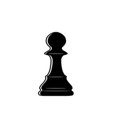 Chess pawn outline vector