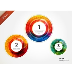 Circle blocks Product choice or versions vector