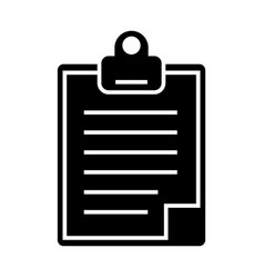 clipboard icon black sign on vector image