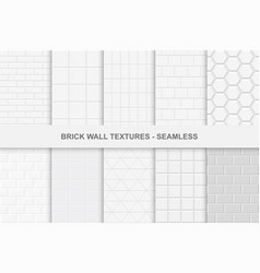 collection of seamless brick wall textures vector image