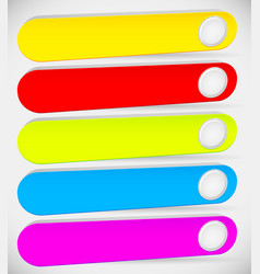 colorful long button banner backgrounds with vector image