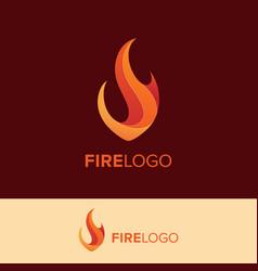 creative fire logo concept vector image