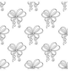 curly ribbon bows seamless pattern vector image