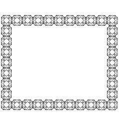 Decorative frame of rectangular shape geometric vector
