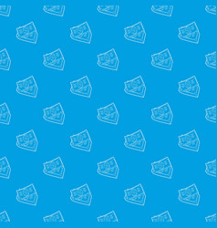 dollar bills pattern seamless blue vector image