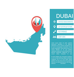 Dubai map infographic isolated vector