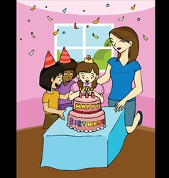Family birthday party vector