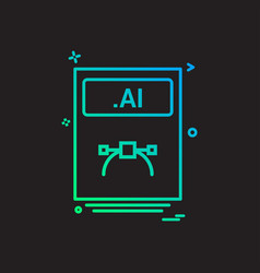 file files ai icon design vector image