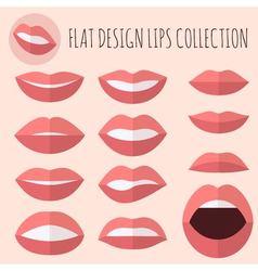 Flat design lips vector