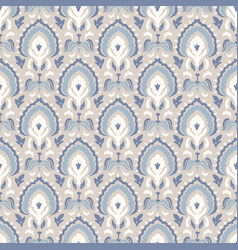 french blu paisley shabby damask texture vector image