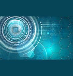 Futuristic microsheme chip vector