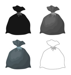 Garbage bag icon in cartoon style isolated on vector