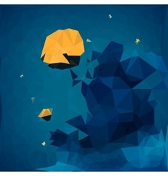 Geometric background starry sky vector
