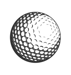 golf ball flat icon vector image