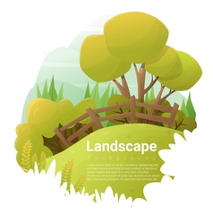 Green landscape background vector