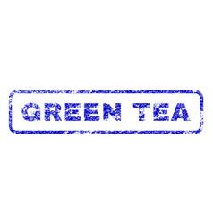 Green tea rubber stamp vector