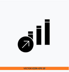 growth icon sign web finance solid black on vector image