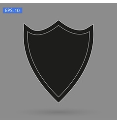 Image icon black shield vector