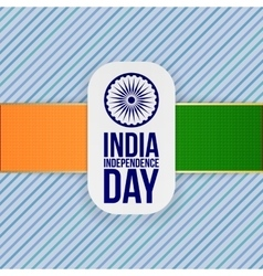 India Independence Day greeting Badge vector