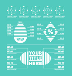 infographic elements steps icons and charts vector image