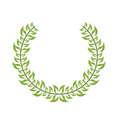Isolated leaves wreath design vector