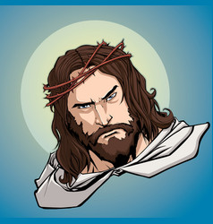 jesus portrait icon vector image