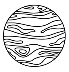Jupiter planet icon outline style vector