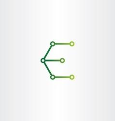 Letter e logo electronics circuit icon vector