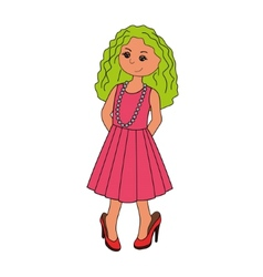 Little girl 2 vector
