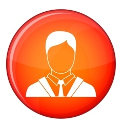 Man in business suit icon flat style vector