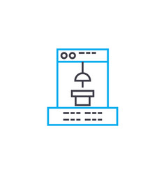 Manufacturing software linear icon concept vector