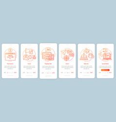 Marketing channels orange gradient onboarding vector