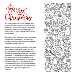 merry christmas greeting card xmas and new year vector image