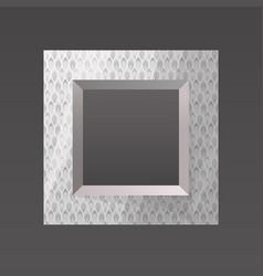 Metal printed frame blank vector