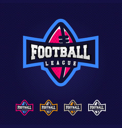 modern professional logo for a football league vector image
