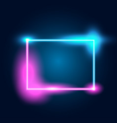 Neon glowing techno lines vector