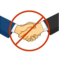 no handshake sign vector image