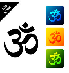 om or aum indian sacred sound icon symbol of vector image