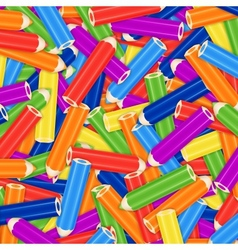 Pencil Pile Background Card Or Cover vector image
