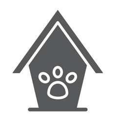 Pet house glyph icon animal and home dog house vector