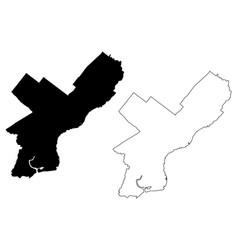 Philadelphia city map vector