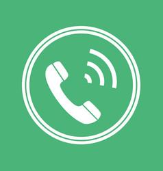 phone icon flat sign symbol vector image